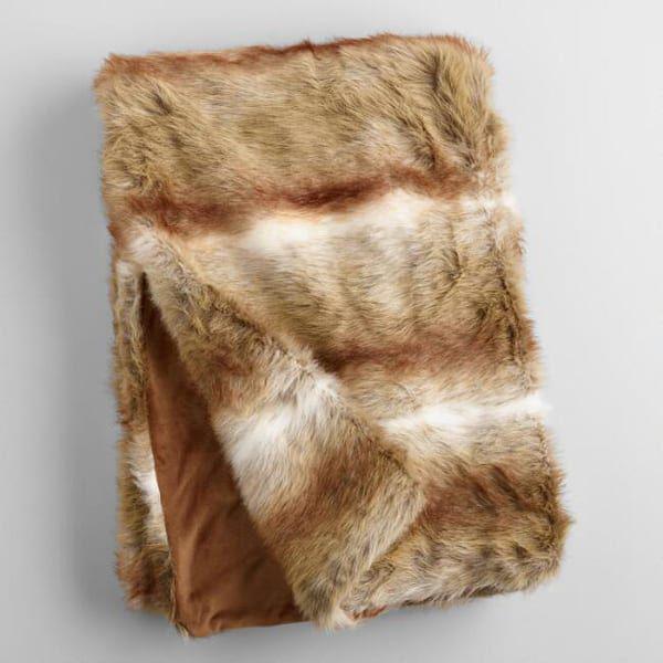 brown-faux-fur-throw