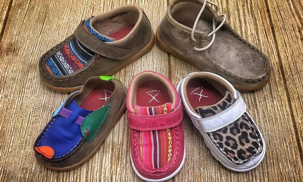 twisted x boots moc Mocs moccasins moccasin infant kids baby babies shoes shoe footwear koe wetzel leopard serape bomber cowgirl magazine
