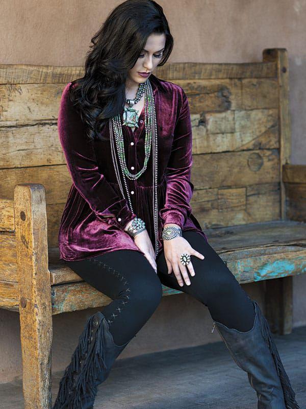 Santa Fe western fashion cowgirl fashion western chic cowgirl magazine