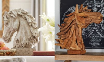 horse head sculptures