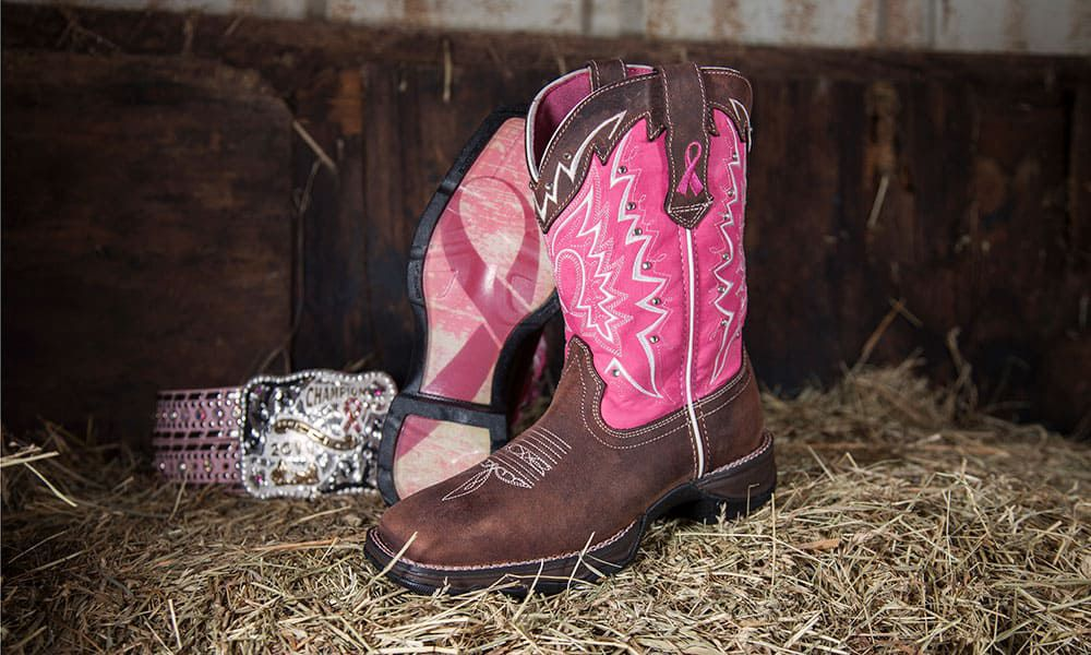 lady rebel breast cancer awareness durango boots cowgirl magazine