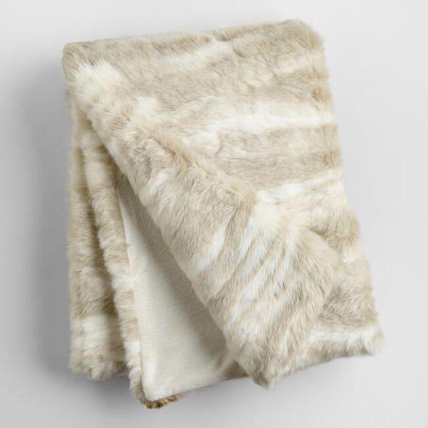 ivory-faux-fur-throw