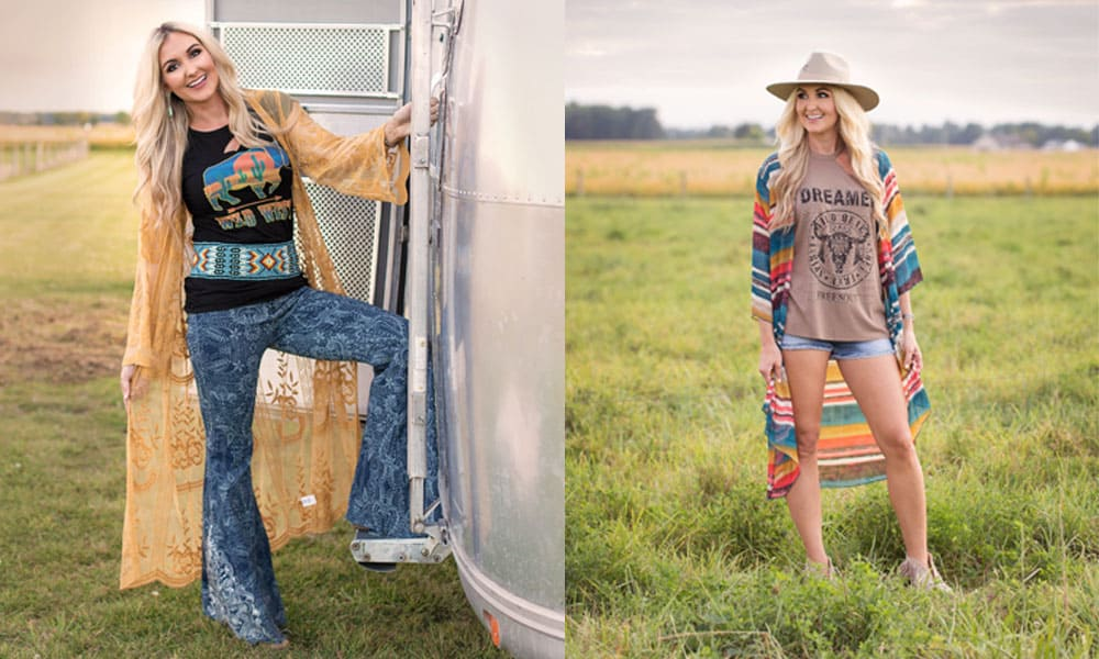 soul revival boutique boutique hub shop local Brooke brook western fashion fashionista glamour fringe serape flannel Charlie 1 horse style boho gypsy Loretta lynn airstream