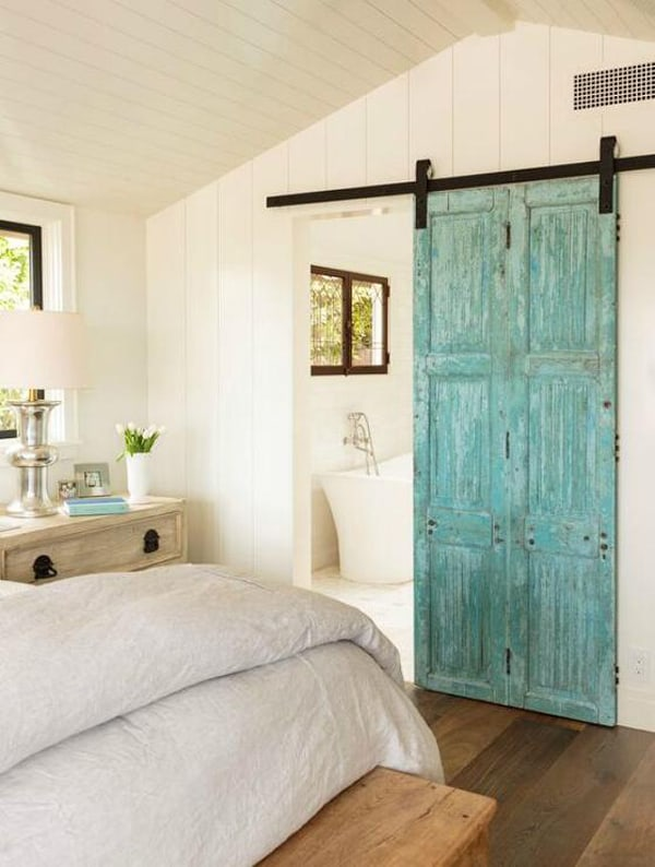 weathered-turquoise-barn-door