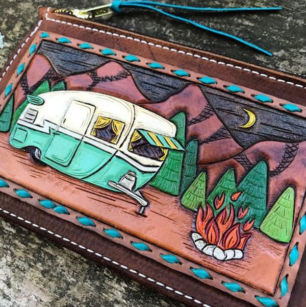tooled leather wallets 76 Riveted Cowgirl Magazine