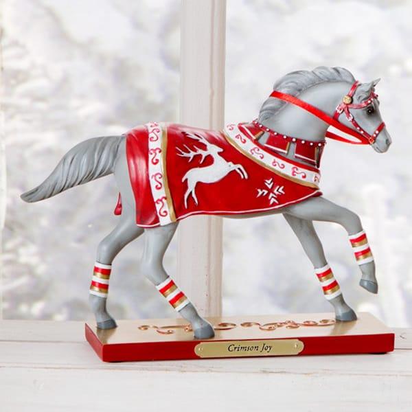 Buy Crimson Joy The Latest Holiday Horse Decoration From Painted Pony