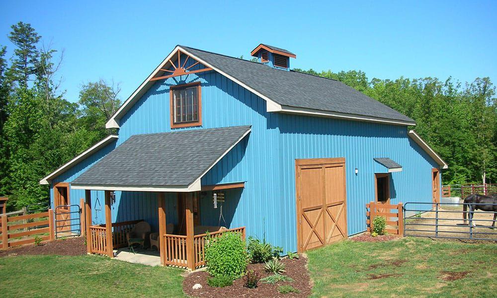 Blue barns horses horse property cowgirl magazine