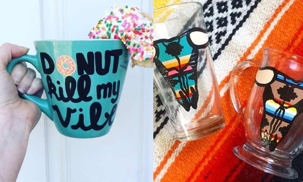 coffee clinkers unlimited wine glass painted coffee mug cowgirl magazine