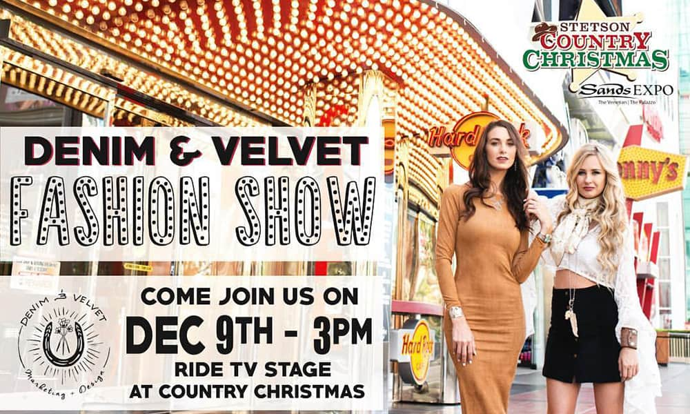 denim and velvet fashion show cowgirl magazine