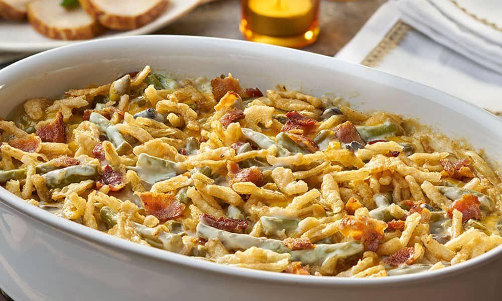 Bacon Cheddar Green Bean Casserole Ultimate Comfort Food Recipe Recipes Cowgirl Magazine