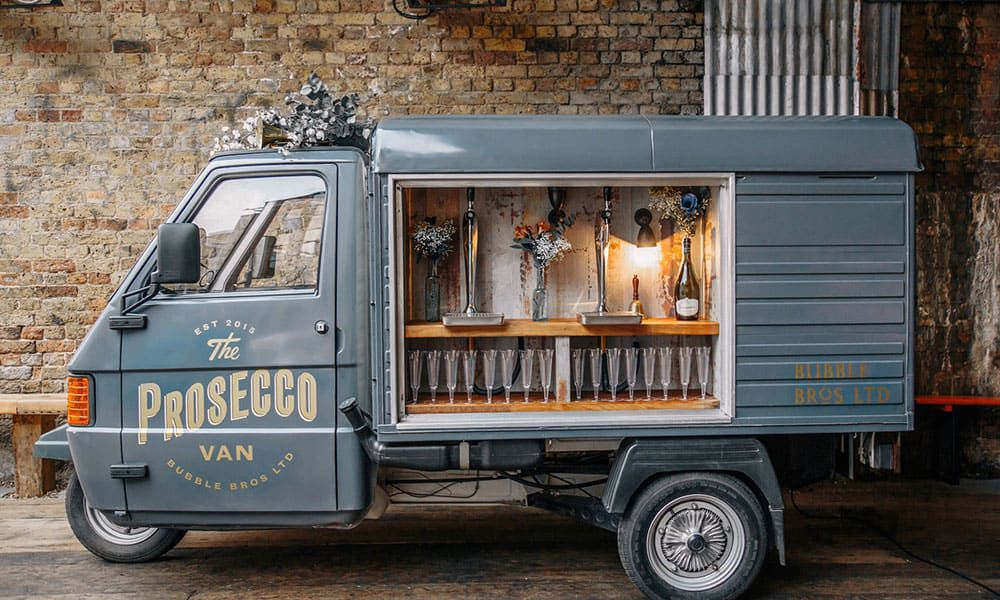 Prosecco Van Wedding Trend Cowgirl Magazine