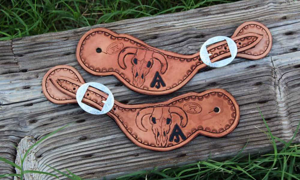 leather spur straps cowgirl magazine