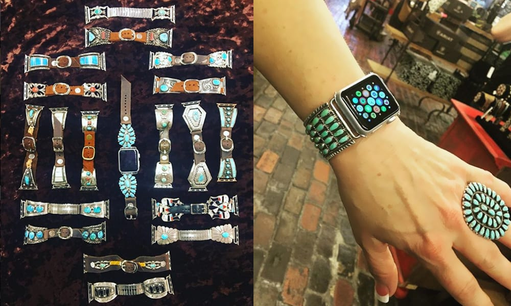Apple Watch band iWatch turquoise silversmith silver work cowgirl magazine