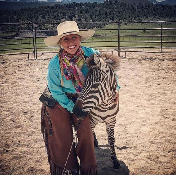 Mustang Maddy Zebras Cowgirl Magazine
