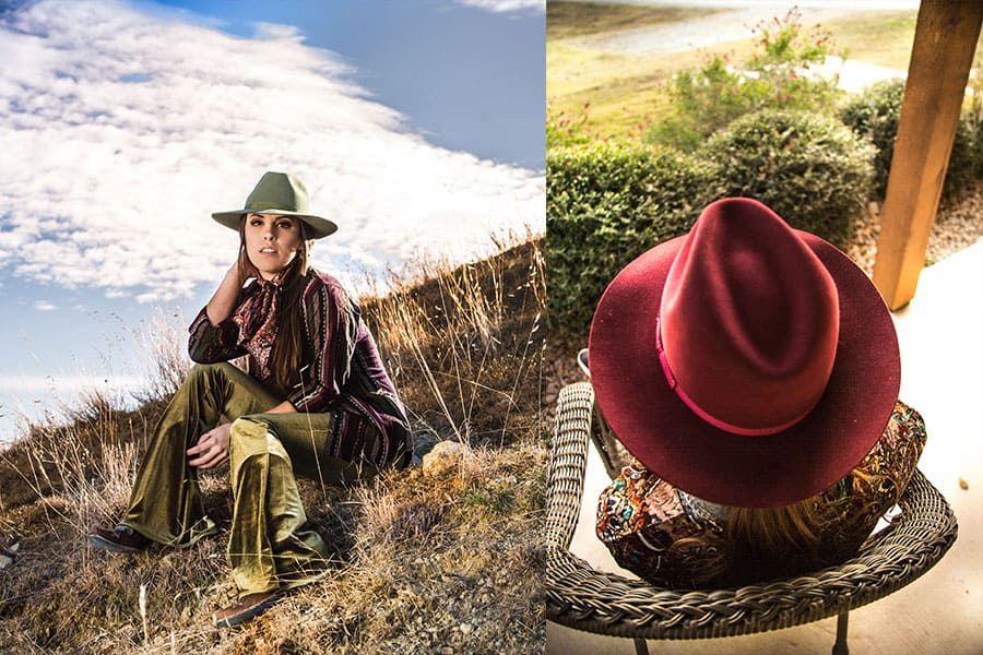 rodeo king tracker trackers merlot olive denim cowgirl magazine hat hats