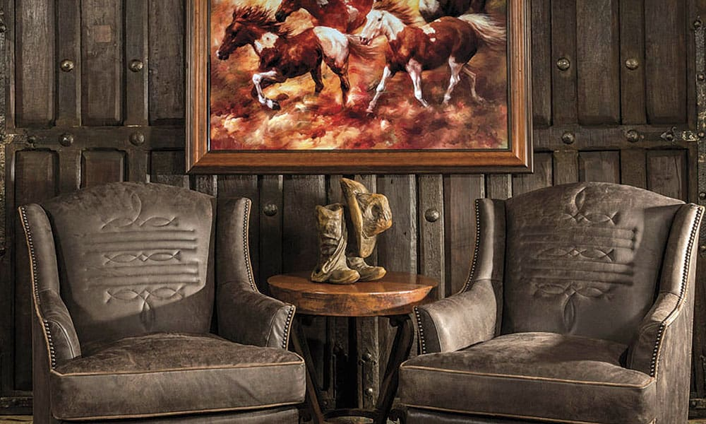 Sitting Statement Chairs Living Room Home Decor Cowgirl Magazine