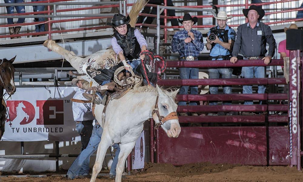 female bronc riding bronc riders cowgirl magazine