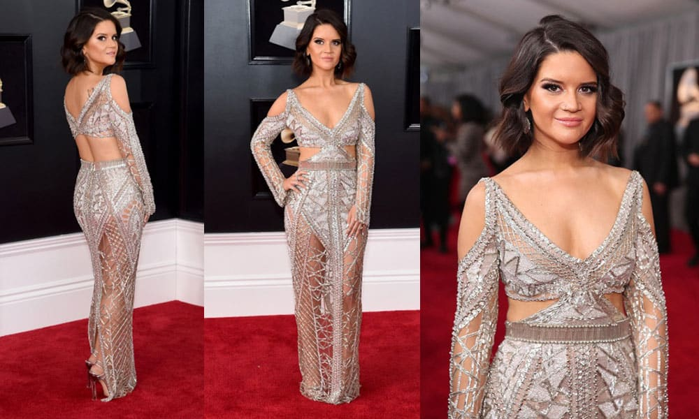 Maren Morris on the red carpet of the 60th Annual Grammy Awards, 2018 Cowgirl Magazine