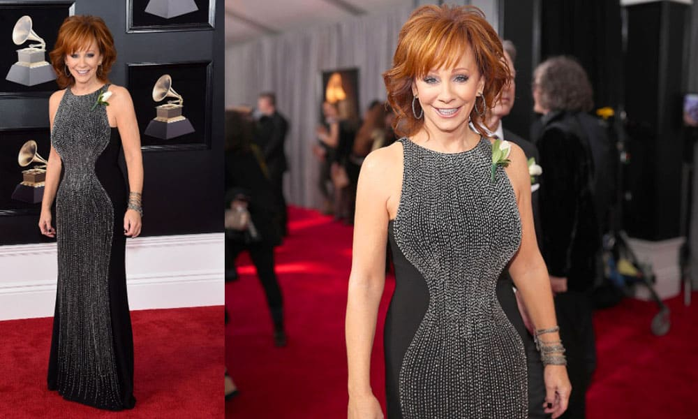 Reba McEntire on the red carpet of the 60th Annual Grammy Awards, 2018 Cowgirl Magazine