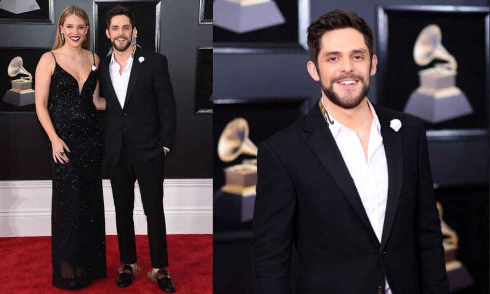 Thomas Rhett and Lauren Rhett on the red carpet of the 60th Annual Grammy Awards, 2018 Cowgirl magazine