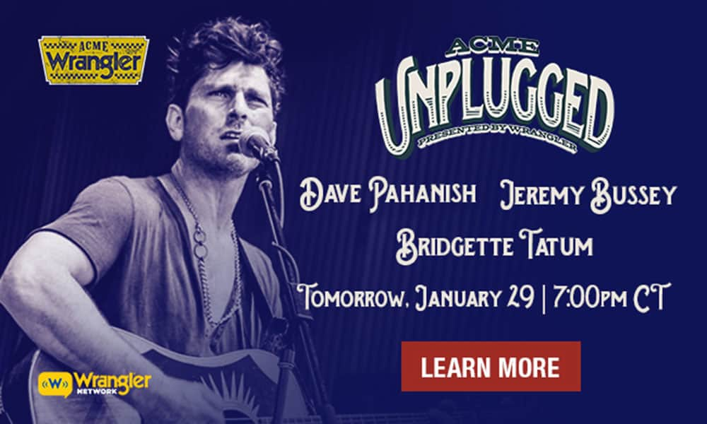 Wrangler Network Live Streams Acme Unplugged Cowgirl Magazine