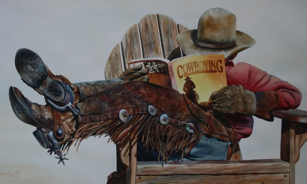watercolor cowboy nelson boren cowgirl magazine