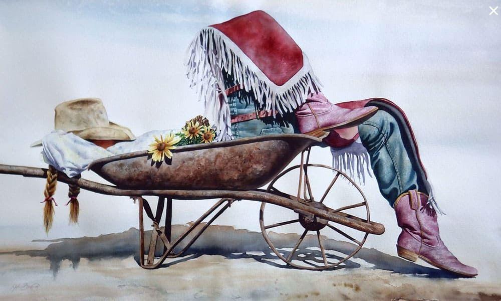 watercolor cowboy nelson boren cowgirl magazine