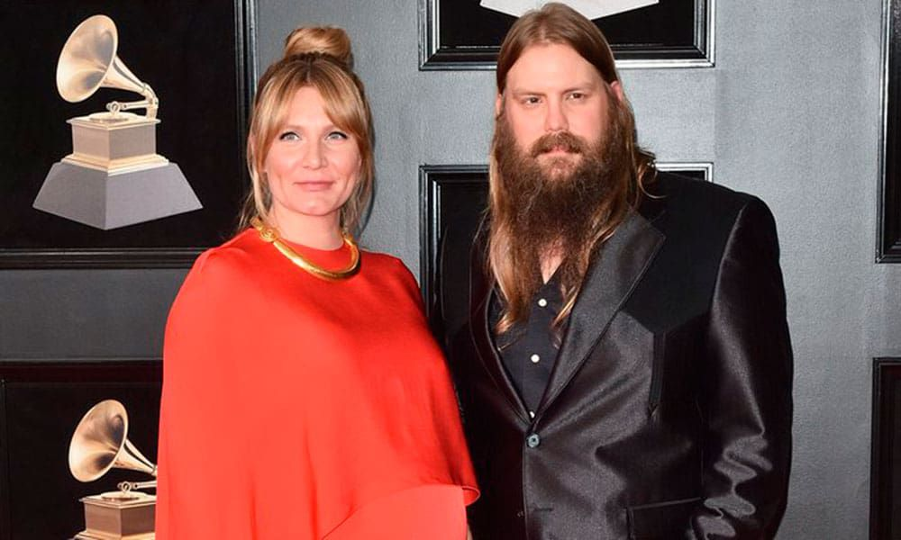 Chris Stapleton and wife Morgane at the 60th Annual Grammy Awards 2018 Cowgirl Magazine