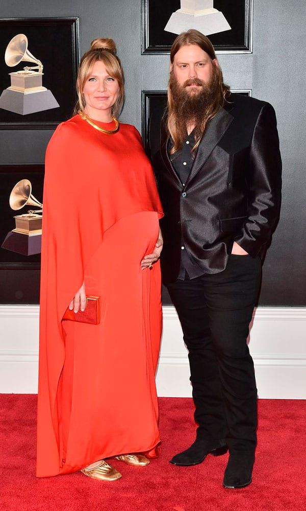 Chris Morgane Stapleton 60th Annual Grammy Awards