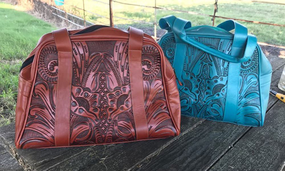 Outlaw Spirit hand-tooled leather bags Cowgirl Magazine