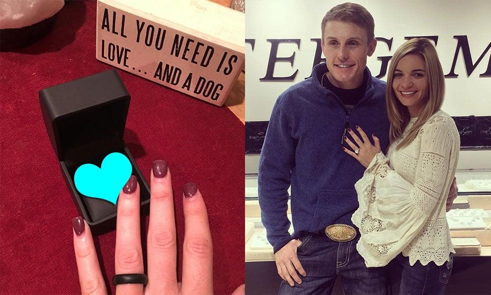 tuf tiffany engagement ring wedding ring engaged cowgirl magazine