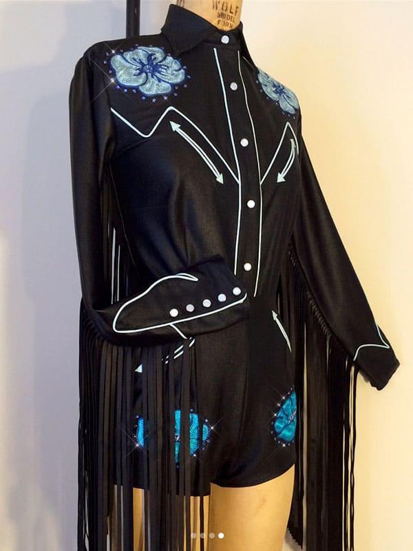 rockin b clothing fringe romper rodeo cowgirl magazine