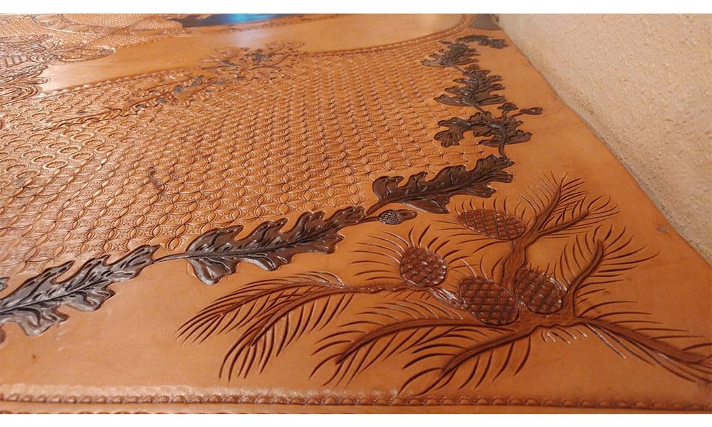 kosel saddlery tooled leather countertops cowgirl magazine