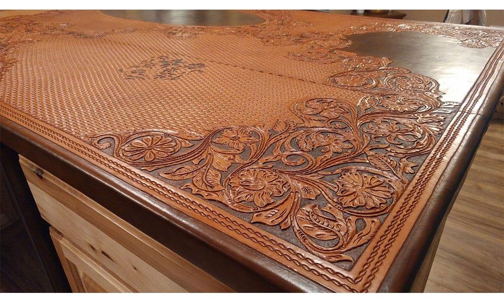 Lovely ... Kosel Saddlery Tooled Leather Countertops Cowgirl Magazine. U201c