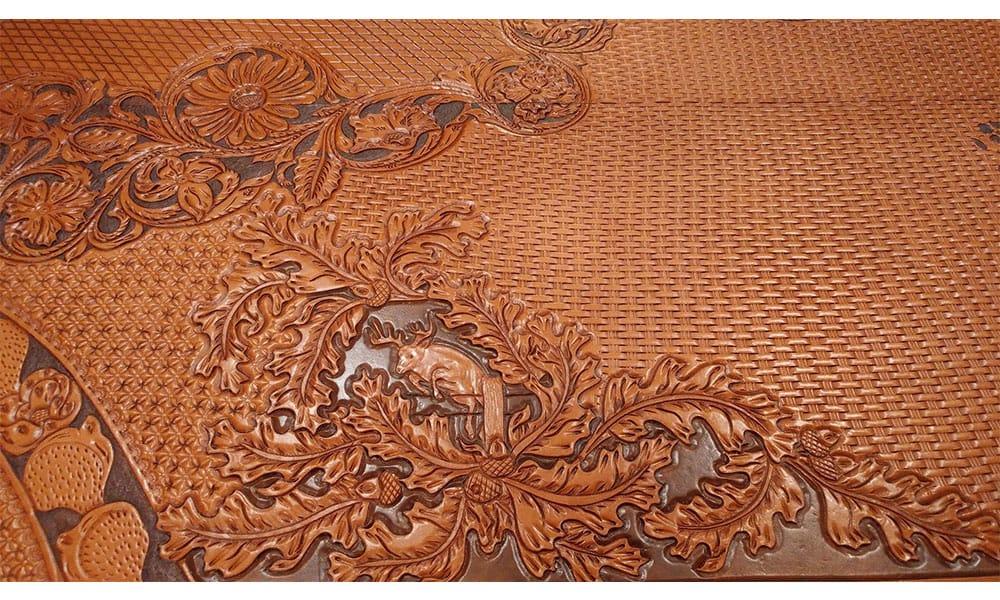 Kosel Saddlery Tooled Leather Countertops Cowgirl Magazine. U201c