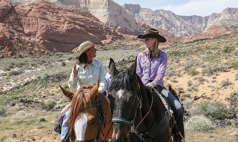 Snow Canyon Cowgirl Magazine Darley Newman Horses