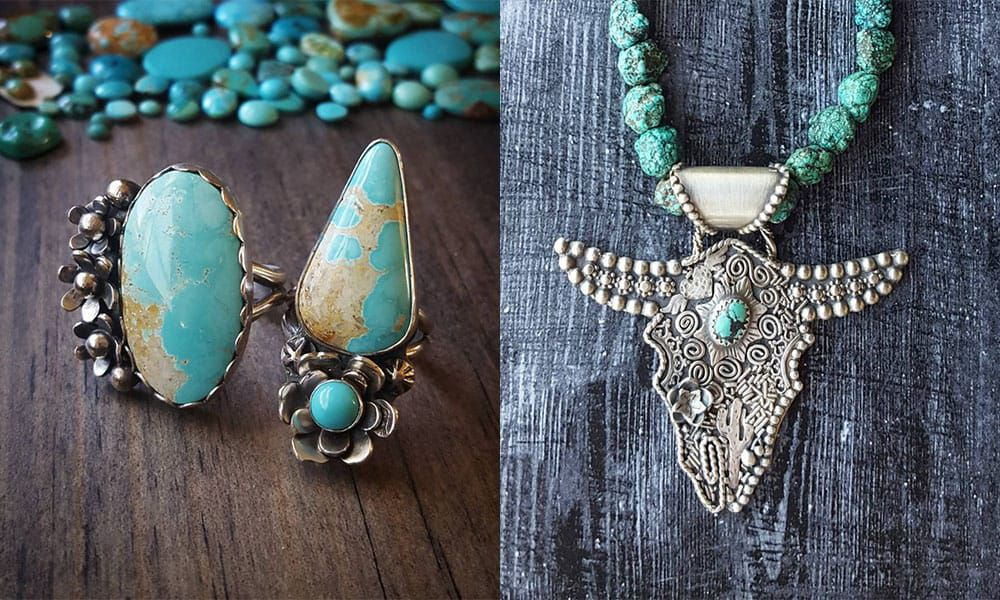 turquoise silver the winged heart rebekah chamberlin