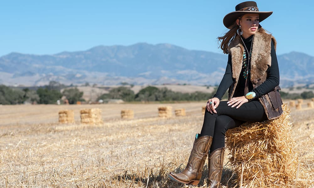 cowgirl winter fashion by Ken Amorosano Refugio Road