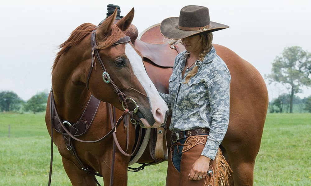 Weaver Leather Headstalls Cowgirl with Horse Cowgirl Magazine