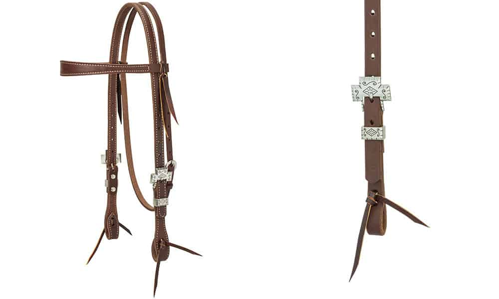 weaver leather silver cross headstall cowgirl magazine