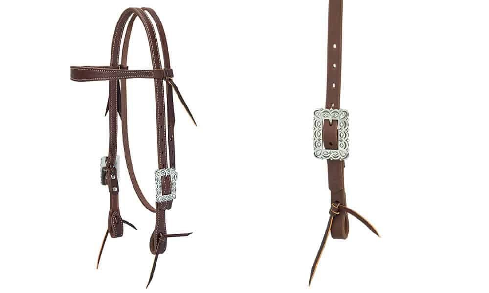 weaver leather headstall silver scalloped design cowgirl magazine