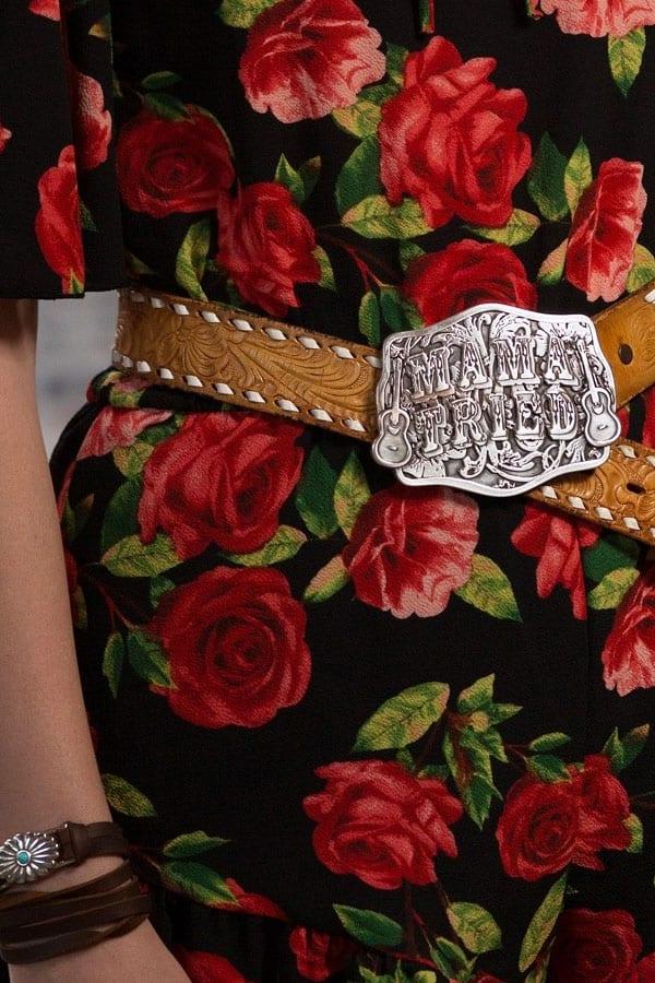 """Junk Gypsy """"Mama Tried"""" belt buckle cowgirl magazine"""