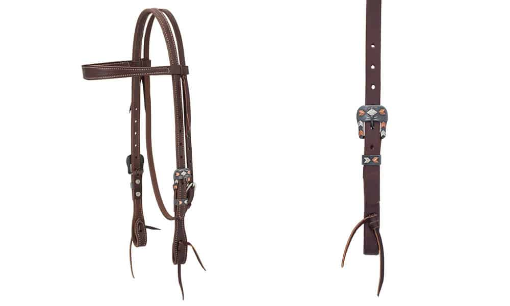 weaver leather headstall silver and copper chevron buckle design cowgirl magazine