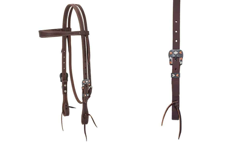 weaver leather headstall silver and copper chevron buckle design cowgirl magazine