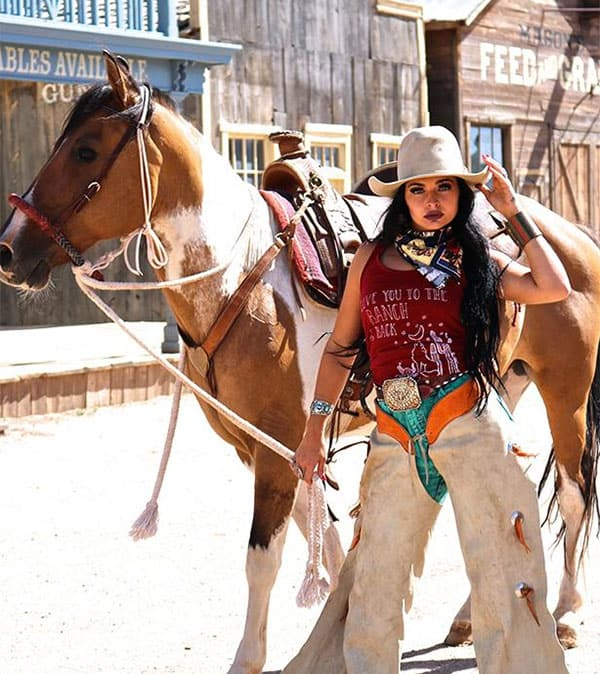 The Coyote Cowgirl To The Ranch Red Graphic Tank Cowgirl Magazine