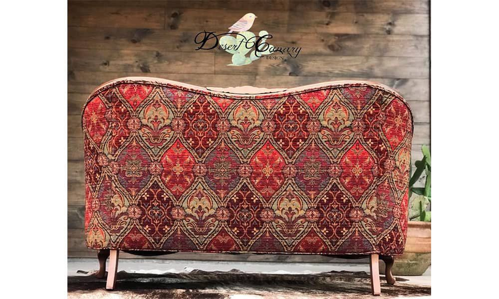 desert canary designs couch old couch vintage redo refurbish cowgirl magazine