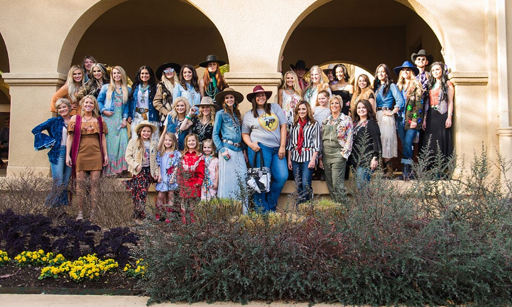 rfd-tv's the american fashion show denim and velvet cowgirl magazine