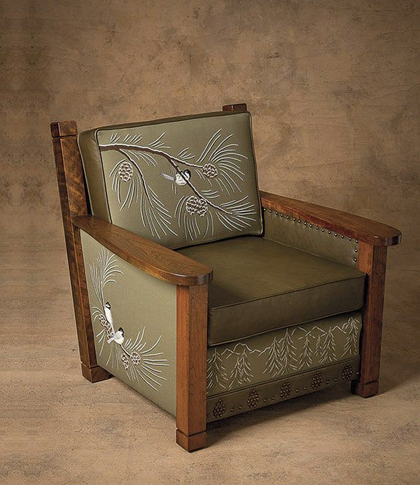 leather armchair anne beard cowgirl magazine