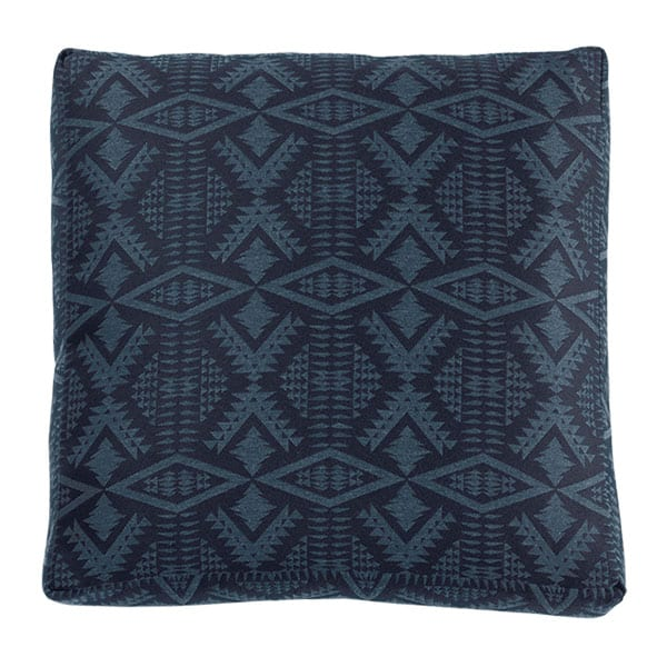 blue tribal print square pillow cushion pendleton sunbrella