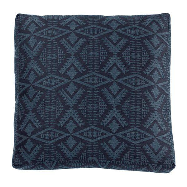 blue tribal print square pillow cushion pendleton sunbrella